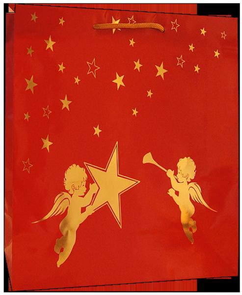 Exklusive Papiertragetasche 19 + 08 x 21 cm, Engelmoiv