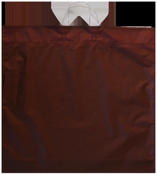 Elegante Plastiktragetasche 54 x 50 + 5/5 cm, braun