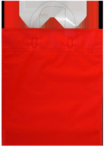 Elegante Plastiktragetasche 30 x 35 + 5/5 cm, rot