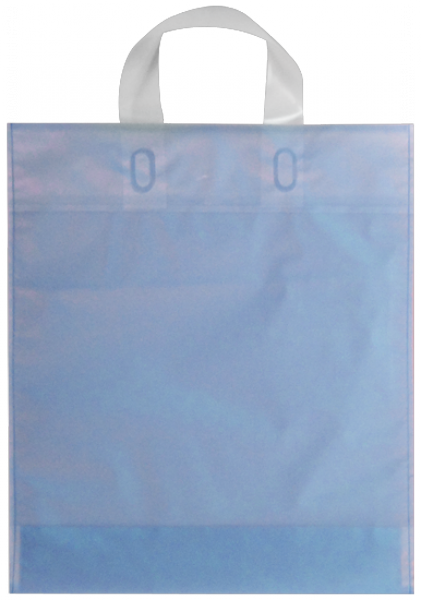 Elegante Plastiktragetasche 30 x 35 + 5/5 cm, blau