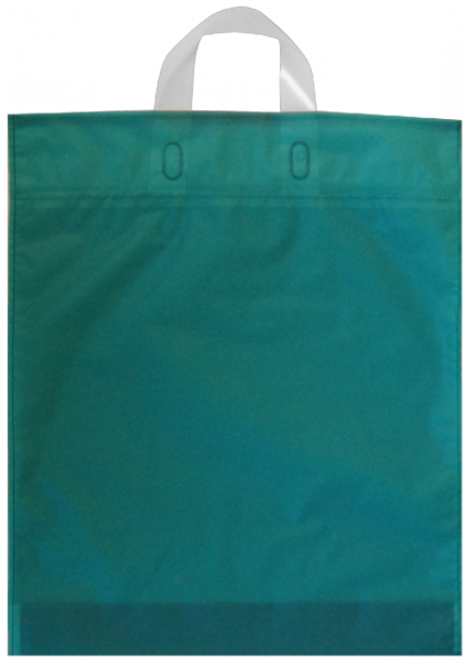 Elegante Plastiktragetasche 38 x 45 + 5/5 cm, türkis