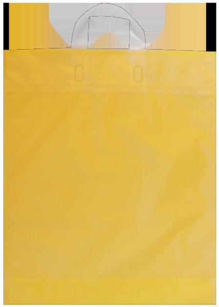 Elegante Plastiktragetasche 38 x 45 + 5/5 cm, gelb