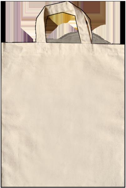 Baumwolltragetasche 38 x 42 cm, kurze Henkel