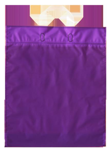 Elegante Plastiktragetasche 38 x 45 + 5/5 cm, lila