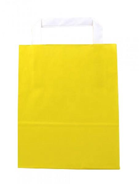 Standard Papiertragetasche 18 + 8 x 22 cm, gelb