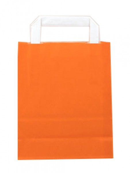 Standard Papiertragetasche 18 + 8 x 22 cm, orange
