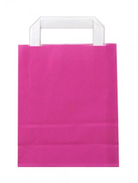 Standard Papiertragetasche 18 + 8 x 22 cm, pink