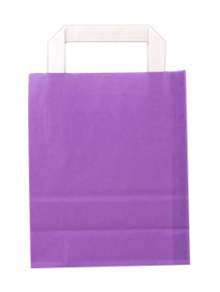 Standard Papiertragetasche 18 + 8 x 22 cm, violett