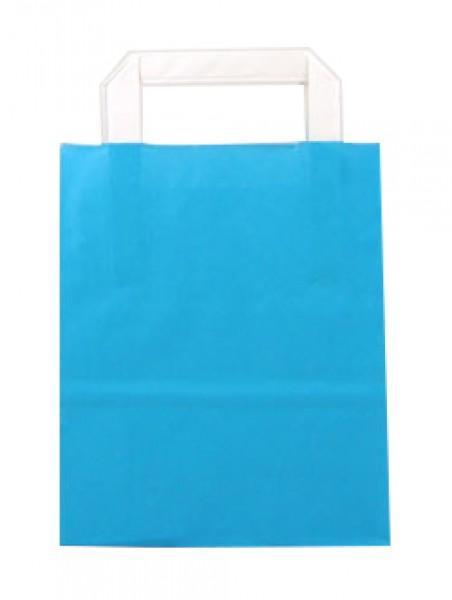 Standard Papiertragetasche 18 + 8 x 22 cm, blau