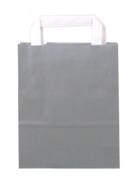 Standard Papiertragetasche 18 + 8 x 22 cm, grau
