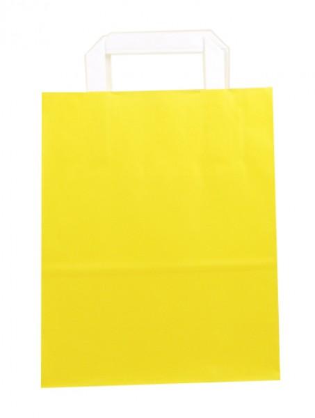 Standard Papiertragetasche 22 + 11 x 28 cm, gelb