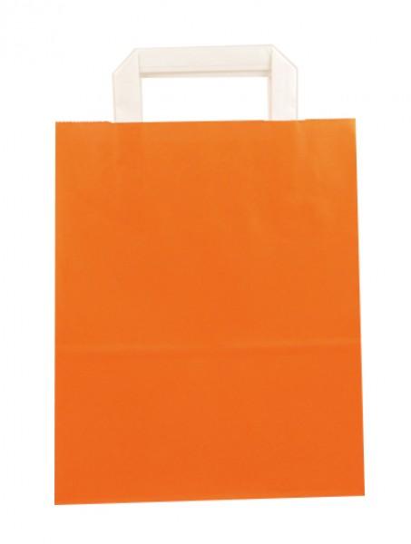Standard Papiertragetasche 22 + 11 x 28 cm, orange