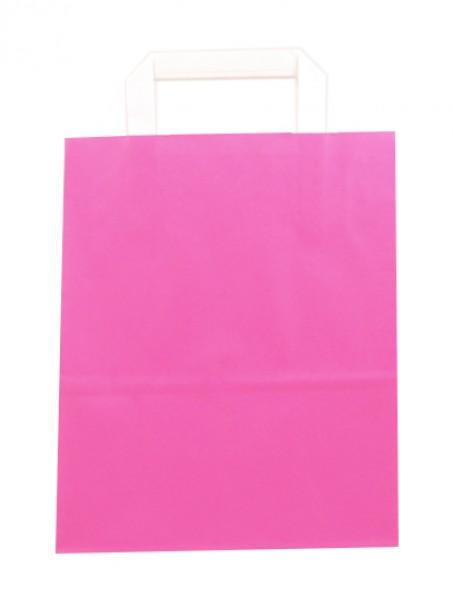 Standard Papiertragetasche 22 + 11 x 28 cm, pink