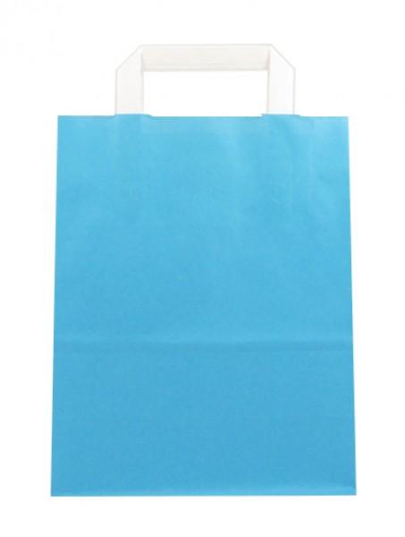 Standard Papiertragetasche 22 + 11 x 28 cm, blau