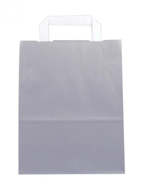 Standard Papiertragetasche 22 + 11 x 28 cm, grau