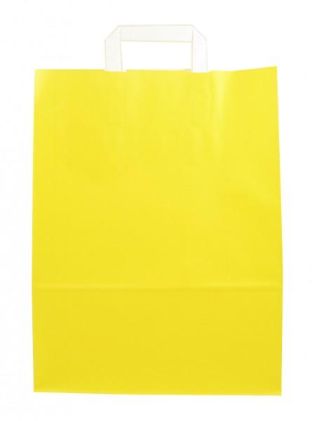 Standard Papiertragetasche 32 + 14 x 42 cm, gelb