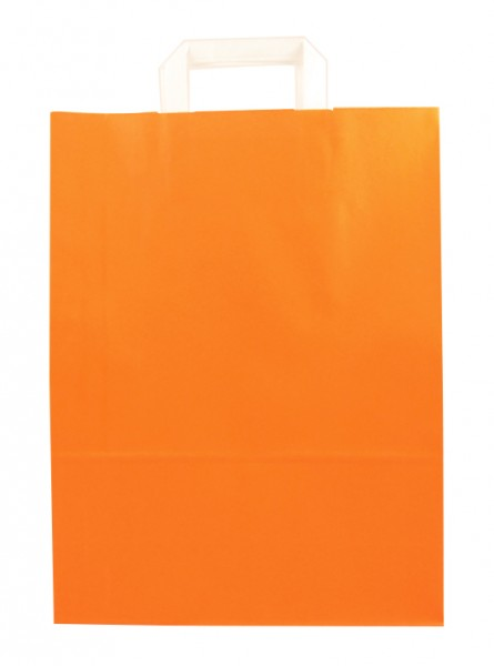 Standard Papiertragetasche 32 + 14 x 42 cm, orange