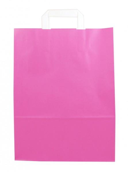 Standard Papiertragetasche 32 + 14 x 42 cm, pink