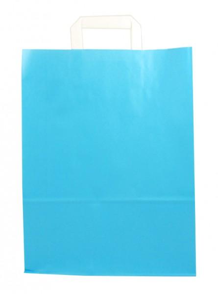 Standard Papiertragetasche 32 + 14 x 42 cm, blau