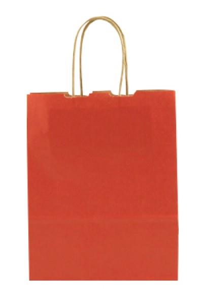 Elegante Papiertragetasche 17 + 7 x 21 cm, rot