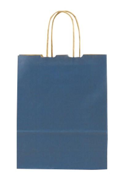 Elegante Papiertragetasche 17 + 7 x 21 cm, blau