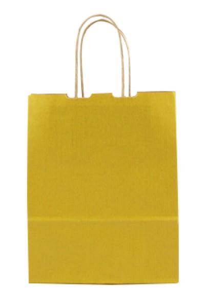 Elegante Papiertragetasche 17 + 7 x 21 cm, gelb