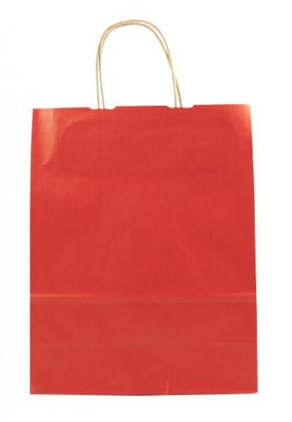 Elegante Papiertragetasche 23 + 10 x 29,5 cm, rot
