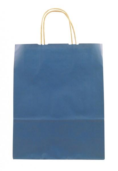 Elegante Papiertragetasche 23 + 10 x 29,5 cm, blau