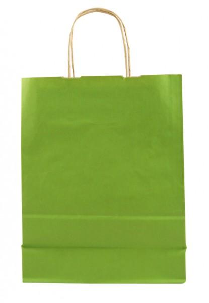 Elegante Papiertragetasche 23 + 10 x 29,5 cm, grün
