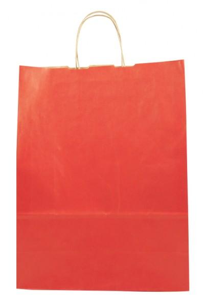 Elegante Papiertragetasche 32 + 14 x 42 cm, rot