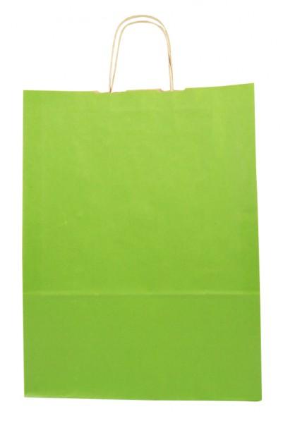 Elegante Papiertragetasche 32 + 14 x 42 cm, grün