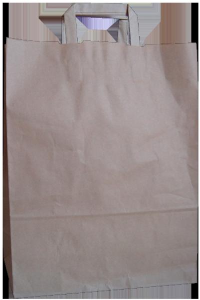 Standard Papiertragetasche 32 + 14 x 42 cm, unbedruckt