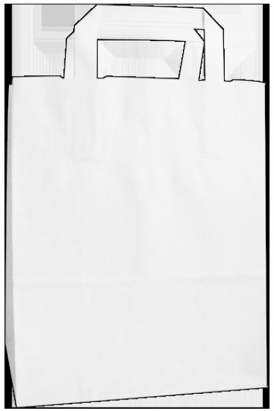 Standard Papiertragetasche 22 + 11 x 28 cm, unbedruckt