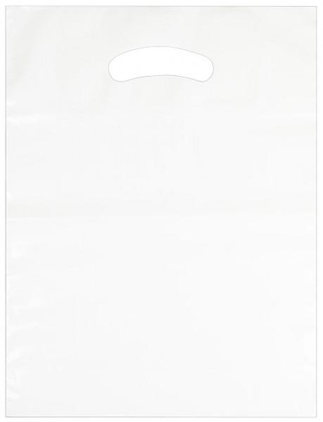Standard Plastiktragetasche 25 x 33 + 4/4 cm, weiß