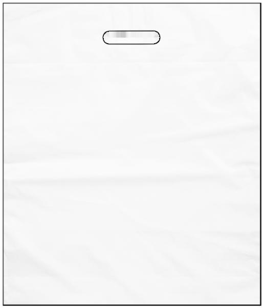 Standard Plastiktragetasche 38 x 45 + 5/5 cm, weiß