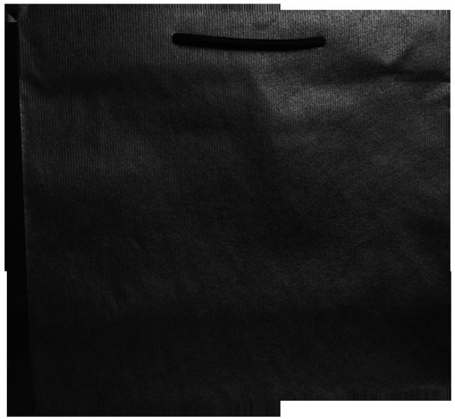 Exklusive Papiertragetasche 38 + 13 x 31 cm, schwarz