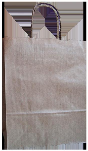 Elegante Papiertragetasche 23 + 10 x 29,5 cm, unbedruckt