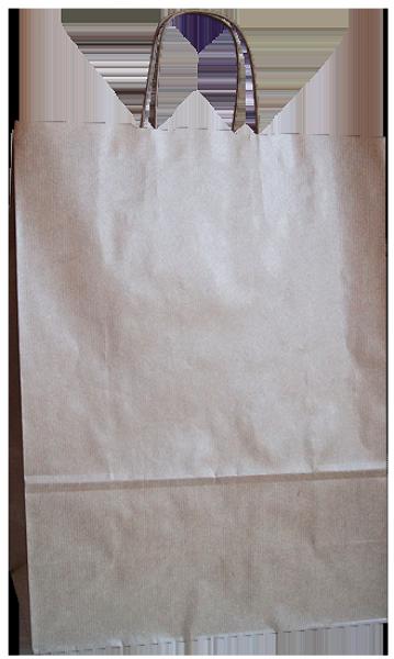 Elegante Papiertragetasche 32 + 14 x 42 cm, unbedruckt
