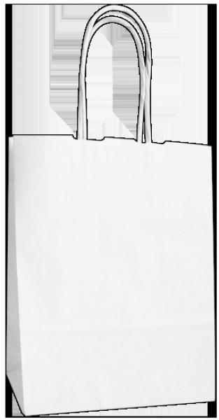 Elegante Papiertragetasche 17 + 7 x 21 cm, unbedruckt
