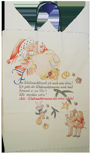 Elegante Papiertragetasche 32 + 14 x 42 cm, Weihnachtspoesiemotiv