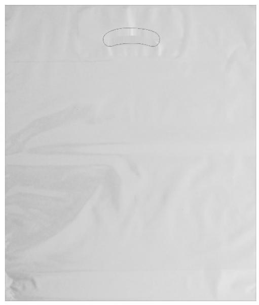 Standard Plastiktragetasche 38 x 45 + 5/5 cm, transparent
