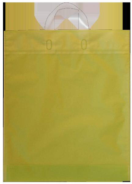 Elegante Plastiktragetasche 38 x 45 + 5/5 cm, grün
