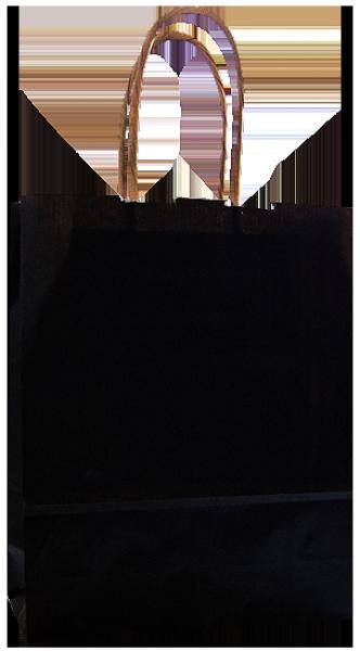 Elegante Papietragetasche 17 + 7 x 21 cm, schwarz