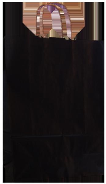 Elegante Papiertragetasche 32 + 14 x 42 cm, schwarz